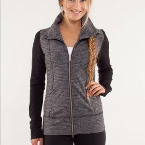 Lululemon Daily Yoga Jacket Coco Pique Black 8